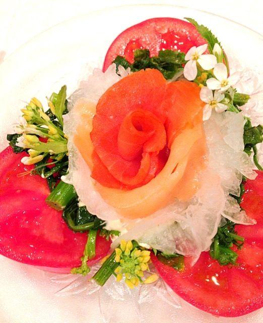 息子は(´・_・`)苦笑いの サラダ♪♪♪ - 169件のもぐもぐ - 新玉ねぎ&菜の花サラダ♪♪♪ by ran2ran