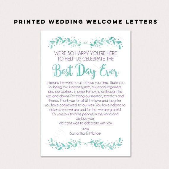 Wedding Gift Bag Itinerary : ... Pinterest Wedding welcome bags, Wedding gift bags and Welcome bags
