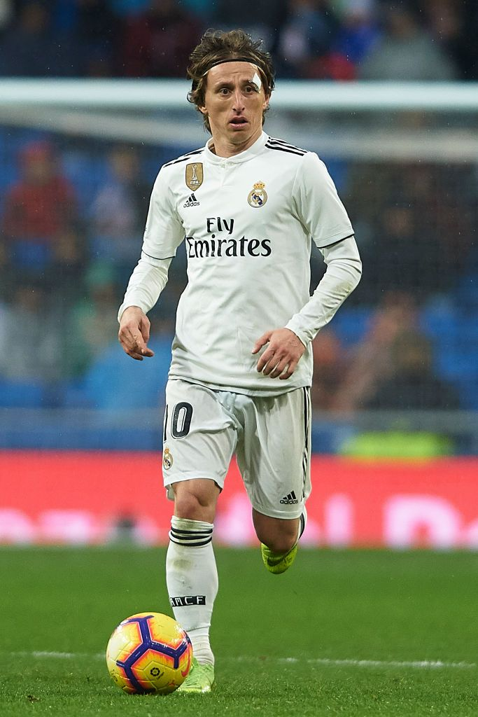 aeba1c54369 MADRID, SPAIN - JANUARY 19: Luka Modric of Real Madrid in action during the