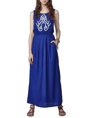 blue viscose maxi  dress - Online Shopping for Dresses