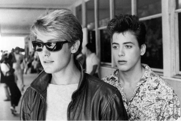 Young James Spader and Robert Downey Jr