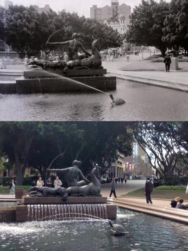 Hyde Park Archibald Fountain 1954>2015 [1954-Vincent Sharah (digitally restored by Andrew Krucko)>2015 - Phil Harvey]