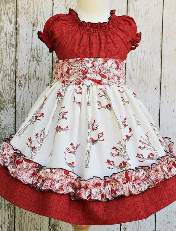 Girls Peasant Dress in Winter Berry in by ItsaBowsLife