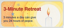 I love these short and beautiful daily retreats.  Takes me away from the world, if only for 3 minutes.  Try it!