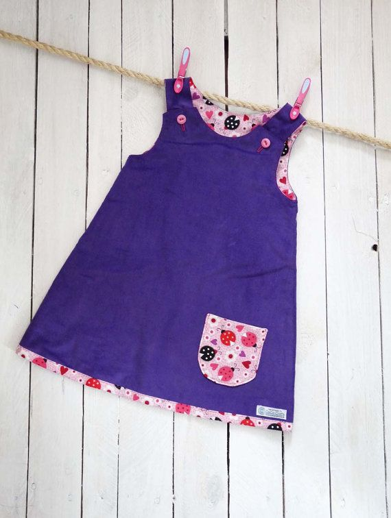 Childrens and Baby Reversible Dress (3-6mths & 6-12mths)
