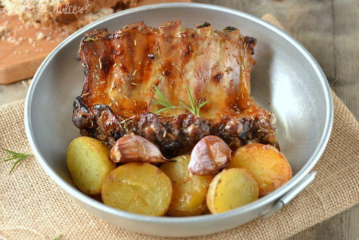 Costillas de cerdo al horno con miel y mostaza cocinar for Cocinar kale al horno
