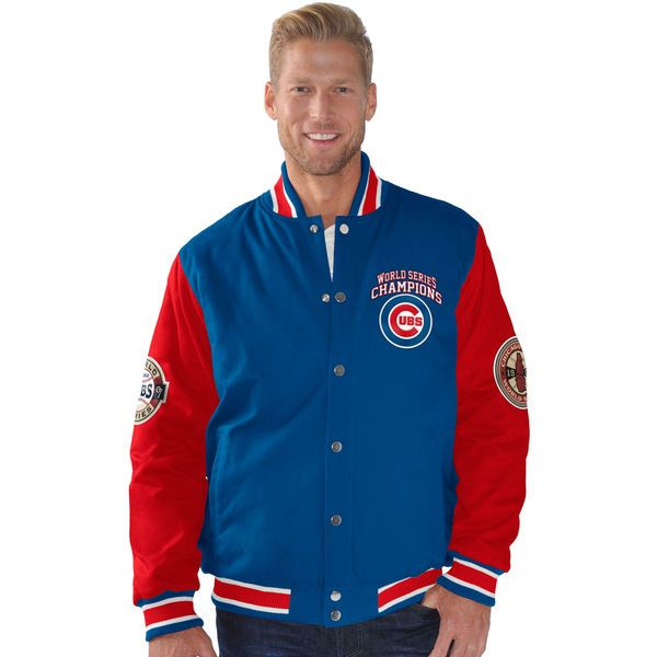 Chicago Cubs G-III Sports by Carl Banks Field Goal Cotton Canvas Commemorative Jacket - Royal/Red - $129.99