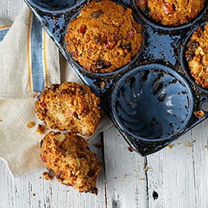 Apple Harvest Muffins - Every tender bite is filled with the flavours of the harvest season - cinnamon, nutmeg, and of course, apples.