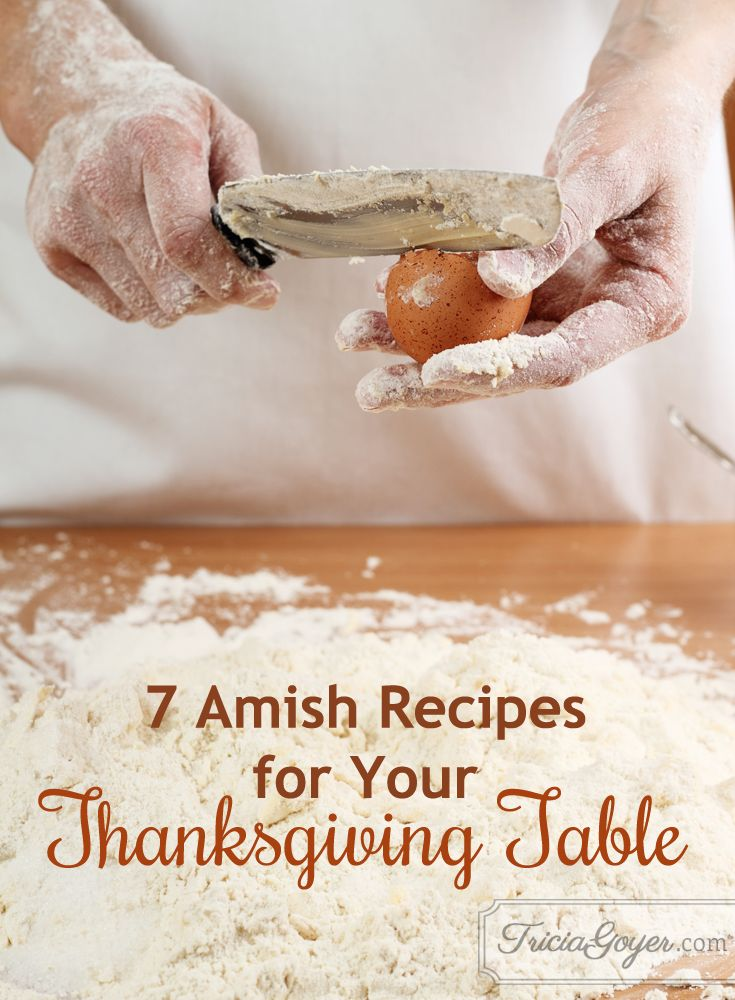 In need of a recipe for Thanksgiving? Tricia Goyer shares her favorite Amish and family recipes on her blog!