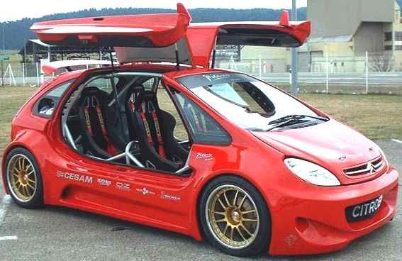 Citroen Picasso sporting gull wing doors and body kit