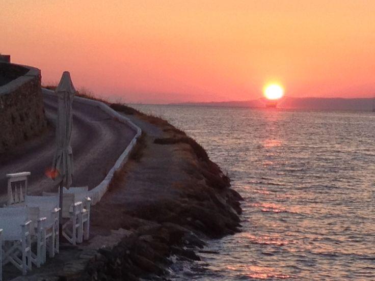 Vourkari, kea island, Cyclades, Greece,Hellas,Sunset in Kea,Summertime