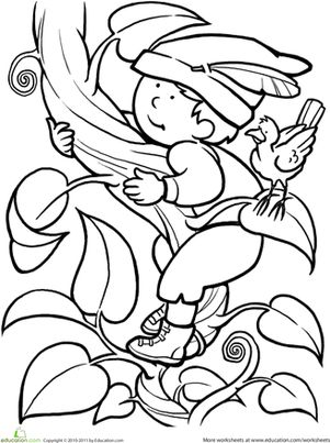 Color Jack and the Beanstalk Worksheet