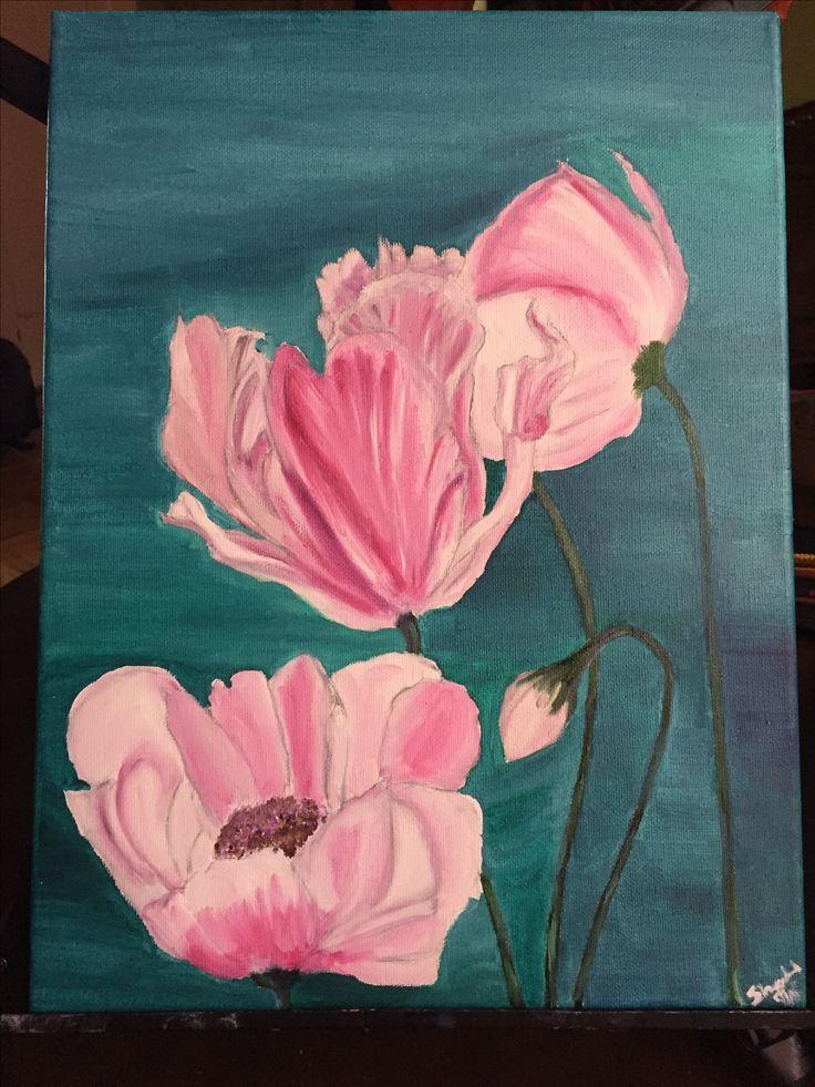 "12x18"" flowers oil painting  $20 inbox for interest shortyshantel@hotmail.com"