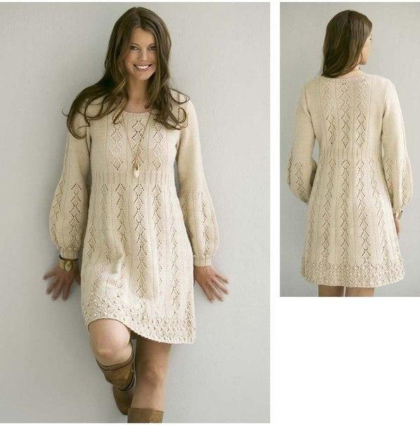 Платье ажурным узором