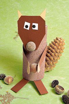 Basteln mit Kleinkindern: Süßes Eichhörnchen Step by Step - Familie.de