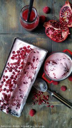 himbeer-granatapfel-joghurt-eis