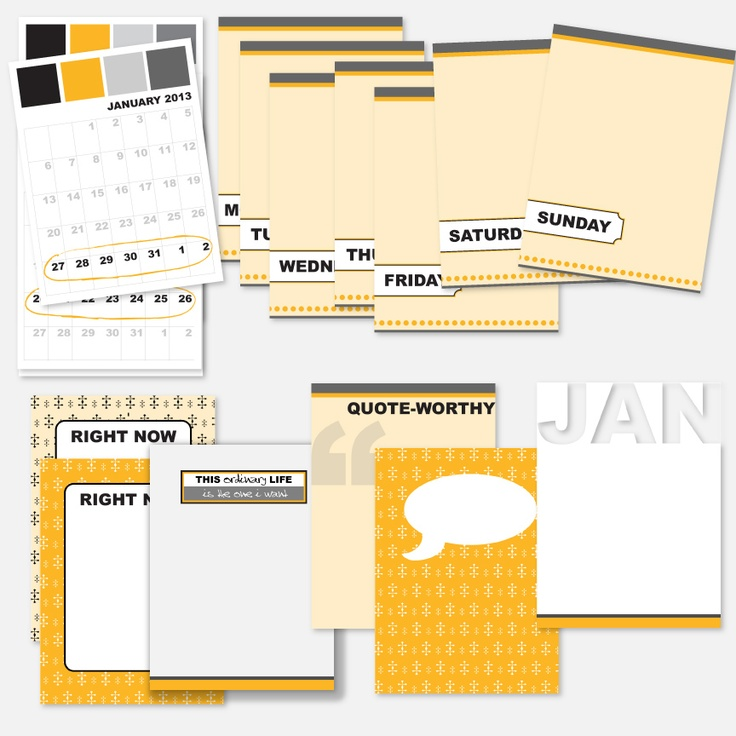 Project Life Journal Cards - Downloadable Digital freebies