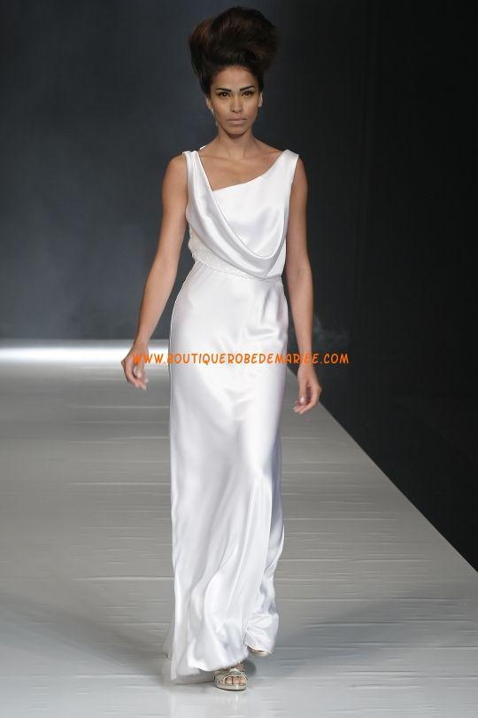 Robe de mariée pas cher en satin soyeux