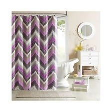 Purple Gray Bathroom Shower Curtain Chevron Purple Grey Bathroom Accessories Bath Zigzag