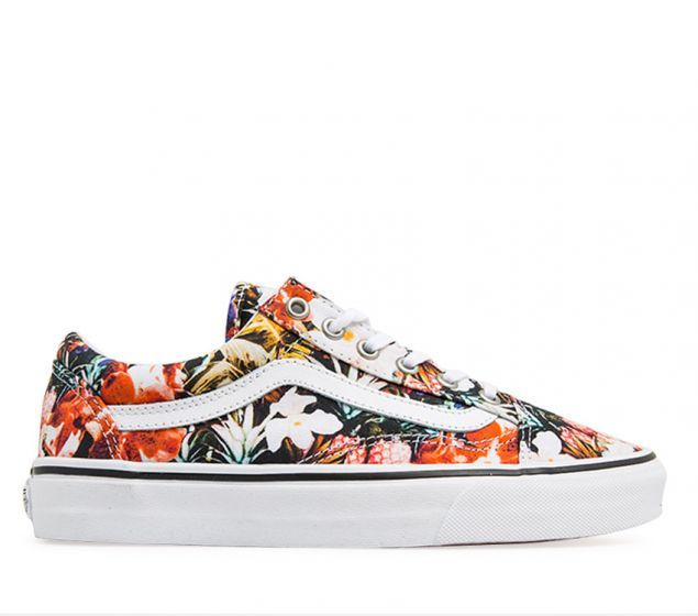 Vans Old Skool (Cuban Floral) | Black/True White | Platypus Shoes