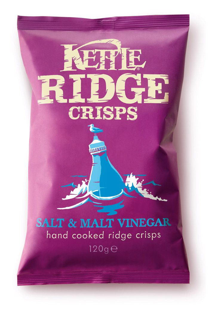 Kettle ridge sale & vinegar crisps