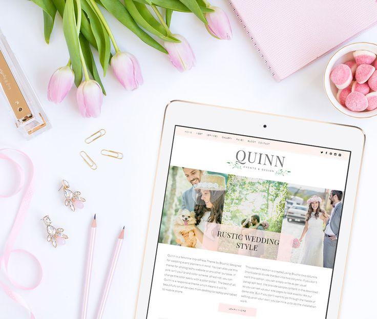 Plus que qlq heures! -30% sur le thème #WordPress féminin Quinn! #blog #themewp #bonplan