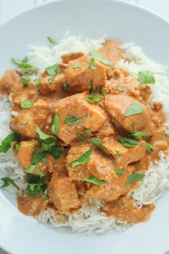 Healthy Slow Cooked Tikka Masala. Try with tofu instead of chicken for a meatless meal.