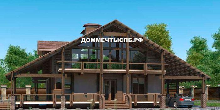 Проект дома № 2-2-37 (S=280 м2) | Дом мечты