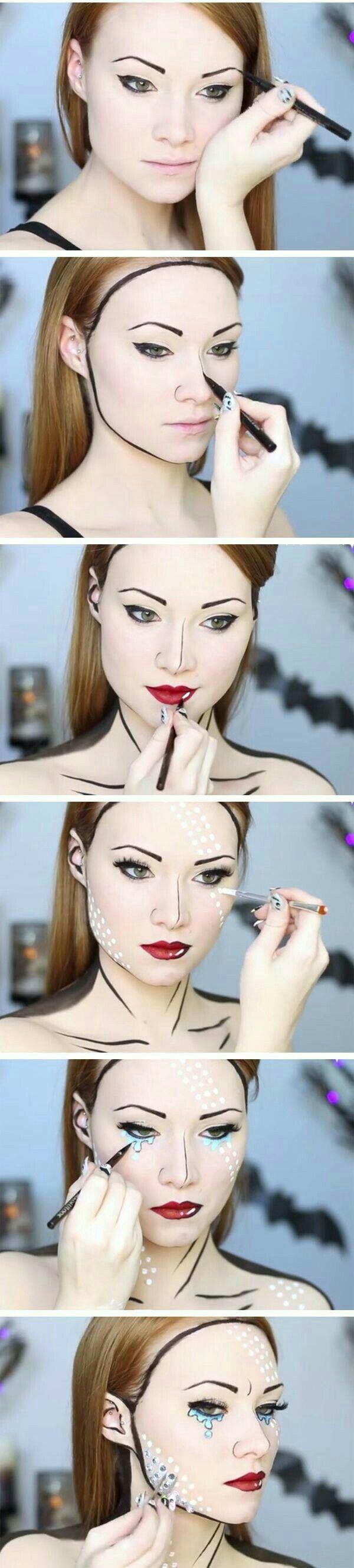 El #maquillaje estilo #PopArt es una opción excelente que te ayudará a lucir perfecta para #Halloween con poco esfuerzo.