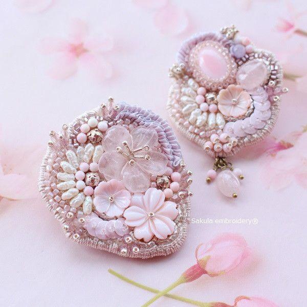 もうすぐ桜の季節 の画像|サクラエンブロイダリーのビーズ刺繍日記