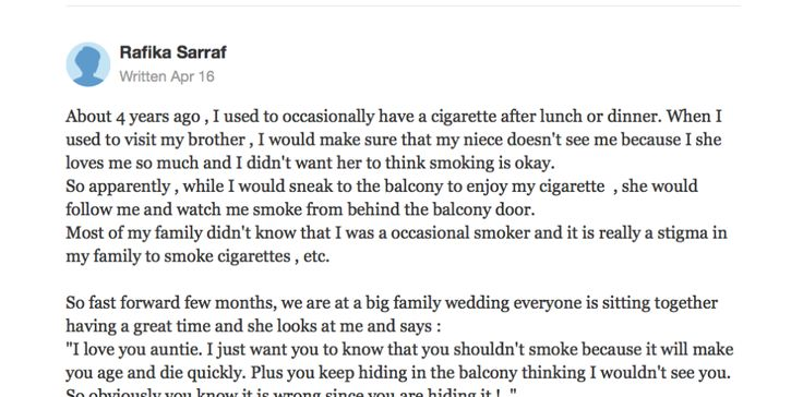 Little Girl Said The Most Embarrassing Thing To Auntie That Made Her Quit Smoking Finally