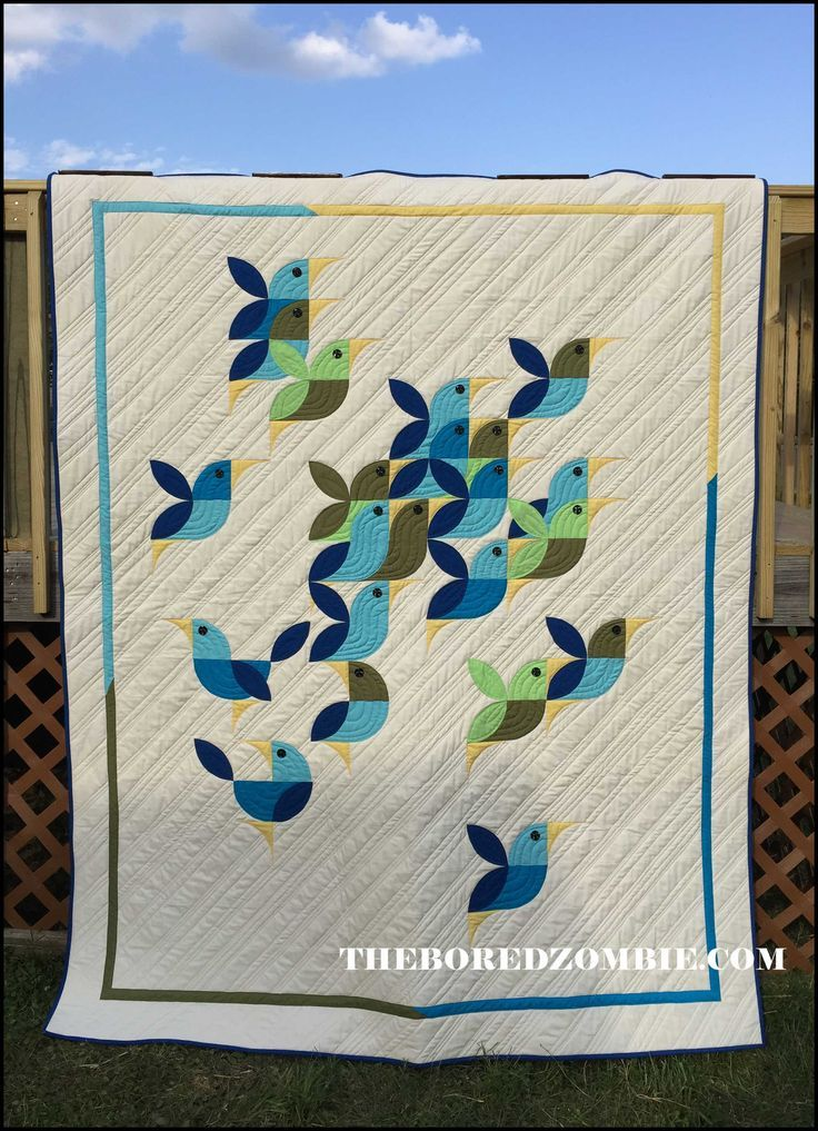 Doxstars Flight Drunkards Path Orange Peel Quilt by the bored zombie