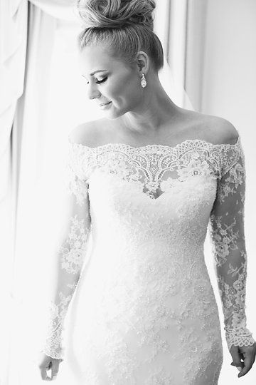 Jane Hill Off the Shoulder Wedding Dress