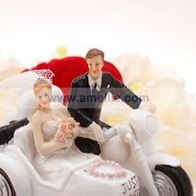 gratis verzending groothandel bruiloft limousine ontwerp hars grappige taart toppers bruidstaart topper liefde(China (Mainland))