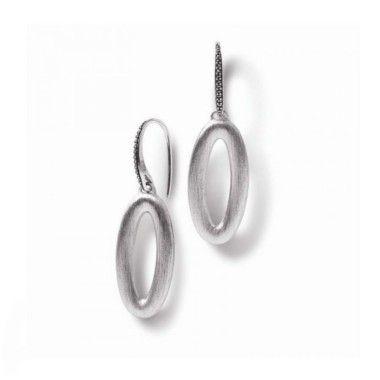 Nanis pendientes de plata con marquesitas y con cierre de gancho.