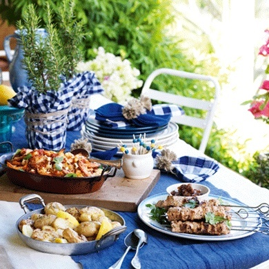 Perfect for sharing with friends on a sunny day our Greek feast is truly lightening - from starters to dessert itu0027s fresh tasty and low-fat.  sc 1 st  Pinterest & 61 best Grecian Goddess Wedding images on Pinterest | Grecian ...