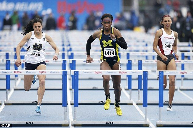 As well as Hughes, American-born Cindy Ofili (centre) switched allegiances to compete for ...