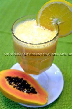 Suco de Laranja, Mamão e Banana | Receitas e Temperos