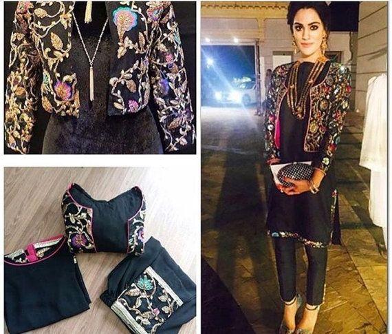 Chemise pakistanais vêtements  Gota avec par KaamdaniCouture