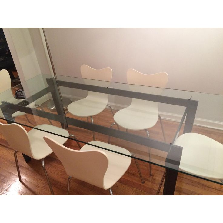 CB2 Bolt Glass Dining Table
