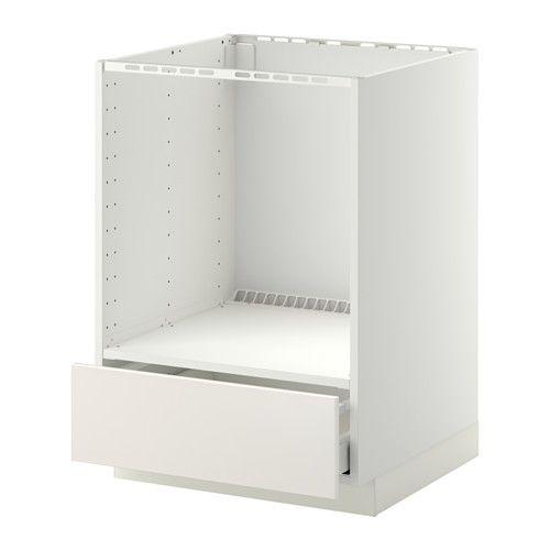 METOD / MAXIMERA Unterschrank für Ofen mit Schubl IKEA Die Schubladen schließen sich durch den integrierten Dämpfer langsam, sanft und geräuschlos.