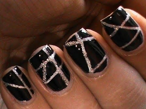Striping tape nail art tutorial for beginners #DIY at home Designs striping tape short/long #nails art @Beautylish