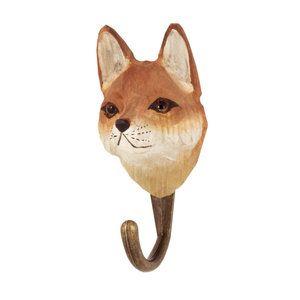 DecoHook Red Fox handcarved clothes hanger from Wildlife Garden - see all at : wildlifegarden.info