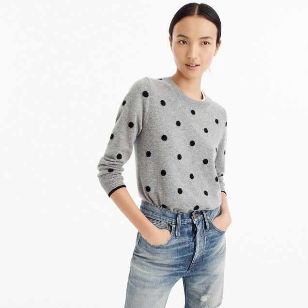 Polka dot sweater in everyday cashmere