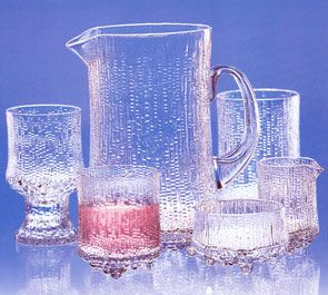 Iittala Ultima Thule crystal.  Like drinking from a glass made of ice.