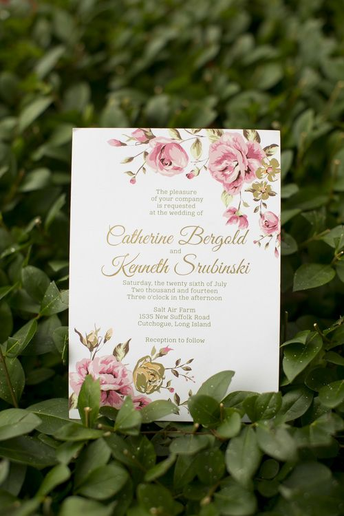 custom wedding invitation suite designed by feathered heart prints gold foil wedding invitation photo by - Customized Wedding Invitations