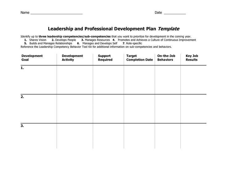 individual development plan template word - Google Search ...