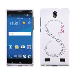 ZTE ZMAX 2 Z958 Z955L Hard Case Cover - Grey And Pink Love Music Infinity 1