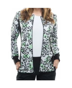 Cherokee Flexibles Go Fur It print jacket - Go Fur It #nursing #scrubs | Shop @ NursingClothes.com