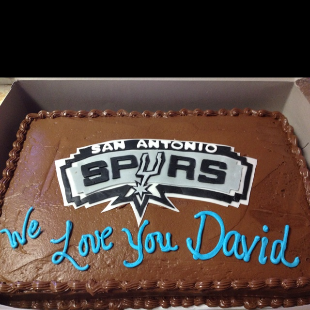 Made this spurs cake for my uncle.